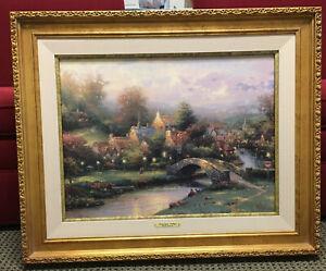 "Thomas Kinkade ""Lamplight Village IV"" Canvas Litho S/N 3025/4950; COA; 27x33"""