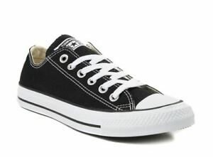 Converse All Star OX Mens/ Womens Canvas Chuck Taylor Trainers Shoes Black White