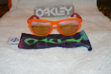 NEW Oakley Frogskins Polarized Blacklight Orange Pink Frame/Pink Iridium