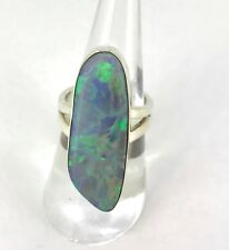 .Gorgeous Handmade Opal & Sterling Silver Statement Ring with val $2765