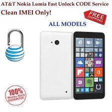 AT&T ALL Microsoft/Nokia Lumia 520 640 830 920 925 1200 1520 Unlock Code Service