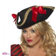 Fever Pirate Hat Adult Ladies Womens Fancy Dress Caribbean Costume Accessory
