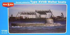 Deutsches U-Boot Typ XVIIB Walter , Mikro-Mir, 1:144, Plastik, Ätzteile, NEU !