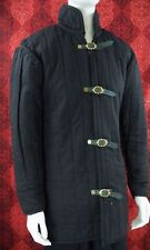 Medieval Thick Padded Black Gambeson Tr564