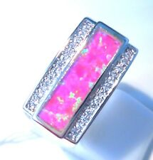 """GORGEOUS PINK FIRE OPAL   RING UK Size """"L"""" US 6"""