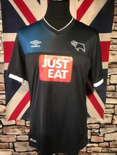 DERBY COUNTY - UMBRO -  AWAY  FOOTBALL  SHIRT - ( L) - VGC - SEE MEASUREMENTS
