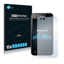 6x LG Electronics P970 Optimus Black Displayschutzfolie Klar Transparent