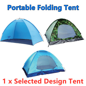 Portable Folding Tent Beach Camping Waterproof Camouflage Hiking 3 Person 2M