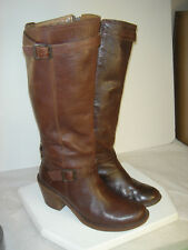 FRYE ~Kate~ Brown Leather BOOTS Womens US 8.5B