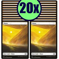 20x PLAINS 374 Double Masters Full Art Basic Land NM/LP MTG Magic the Gathering