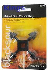 """4 in 1 Drill Chuck chiave 6,9,13,16 mm-Nuova Universale 1/4 """" 3/8"""" 1/2 """" 5/8"""""""