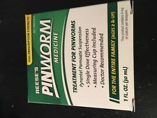 Reese's Pin Worm Medicine - 1 Oz(30mL) each- Pyrantel Pamoate Suspension - New