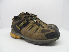DAKOTA Men's Mid-Cut Aluminium Toe Composite Plate Work Boot Brown Size 9EE