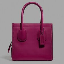 NWT Coach Cashin Carry Tote 22 Leather Purse Satchel Tote Cerise Pink Rose 737