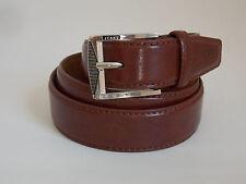 "XL Size 42-44 Men's Reddish Brown Genuine Leather Jeans Belt Width 1 1/4"""