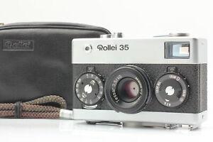 【Read Near Mint w/ Case Strap】 Rollei 35 Silver Singapore Tessar Lens from JAPAN