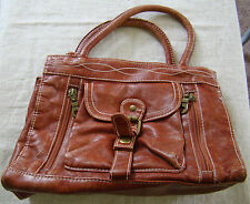 Womens Faux Leather Rust Tote Style Handbag Purse Pocketbook 391421