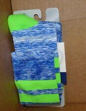 NEW ASICS Old School Blur Knee Socks Blue Green M Medium NEW NWT