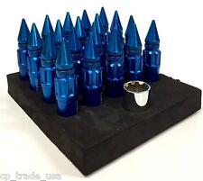 NRG STEEL SPIKED EXTENDED LUG NUTS SET 12X1.5 BLUE HONDA ACURA MITSUBISHI