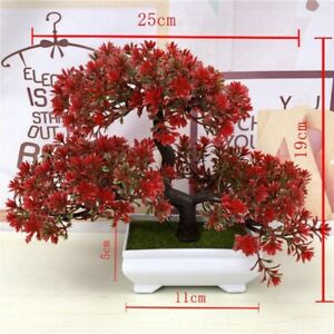 New Artificial Plant Bonsai Potted Simulation Pine Tree Home Office Decor Gift