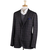 NWT $1595 BOGLIOLI Woven Dark Brown Check Wool 'K Jacket' Slim 42 R Sport Coat