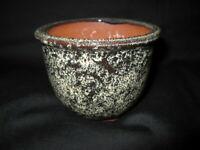 "Japanese NEW Small Bonsai Pot / Tokoname Yaki Ware ""英明 EIMEI 燿山 YOZAN"" 320g -b5-"
