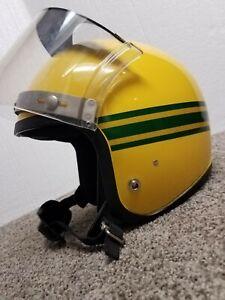 Vintage 1970s John Deere Snowmobile Helmet w/original vari-shield nice condition