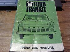 Ford Transit Mark 1 Handbook Operators Instructions Maintenance Manual