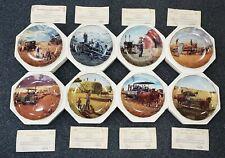 """Lot of 8 Danbury Mint """"Farming The Heartland"""" Collectors Plates w Coa's"""