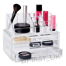 Cosmetic Makeup Holder Organiser Table Display Case Storage Drawer Clear Acrylic