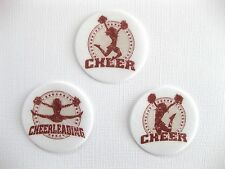 12 PRE CUT EDIBLE RICE WAFER PAPER CARD CHEER CHEERLEADING CUPCAKE PARTY TOPPERS