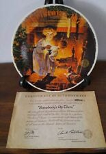 "Norman Rockwell Christmas 1979 Plate ~ ""Somebody'S Up There"" ~ 8844C ~ Mib"