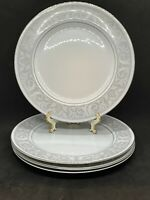 "Set of 4 Imperial China W Dalton WHITNEY 5671 10 3/8"" Dinner Plates EUC"