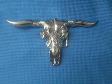 RODEO COWBOY LONGHORN STEER BULLS OX HEAD  BELT BUCKLE
