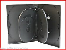 NEW Premium 18 Pk 22mm 8 Tray DVD Movie Game Case Black Multi 6-8 Discs overlap