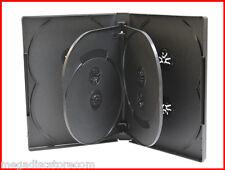 22MM 8-IN-1 DVD CASE BLACK EIGHT TRAY OVERLAP MULTI STORAGE BOX 2 PK PREMIUM