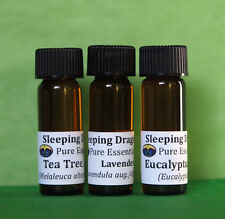 Top 3 Essential Oils, Aromatherapy, Home, 100% pure Lavender Tea Tree Eucalyptus