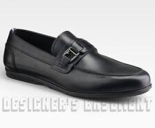 SALVATORE FERRAGAMO World Tempo 7EE black leather Loafers shoes NIB Authentic!