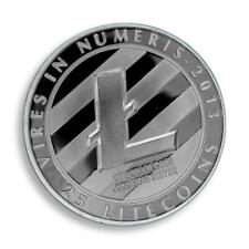 Litecoin LTC, Physical Coin, Silver Plated, 2013, Vires in Numeris, Token, Medal