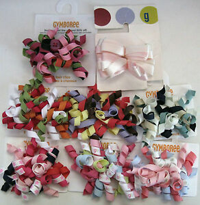 Gymboree Curly Curlies Loop Barrette Pairs Spruced Fairytale Buttons Glamour NEW