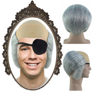 Bald Wig with Eyepath Cosplay A Series of Unfortunate Events Count Olaf HM-988