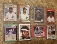 (8) Deion Sanders 1989 1990 Donruss Upper Fleer Topps Score Star Rookie card lot