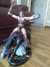 Statue Conan The Conqueror Clayburn Moore Frank Frazetta Rare !