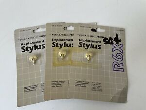 Lot of 3 NOS Shure Realistic R6X Stylus for R27