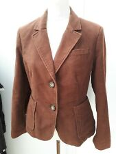 Boden Ladies Size 12 Petite Brown Suede Style Jacket Autumn Wear Equestrian Look