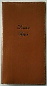 Personalised Leather Notebook. Your Name on the Cover. Pocket or Handbag Size.