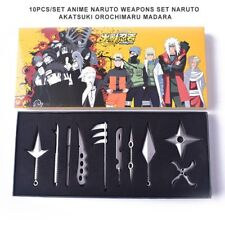10PCS/Set Naruto Sword Kunai Throwing Spike Knives Ninja Knife Dagger Pendant