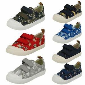 Garçons Clarks orbite Sprint Crochet /& Boucle Youth Casual Kids School Chaussures En Cuir Taille