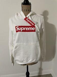 supreme hoodie box logo Small White