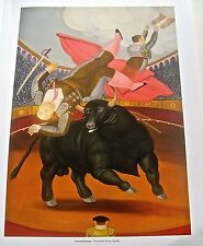 Fernando Botero Poster of The Death of Luis Chameta Offset Lithograph Unsigned
